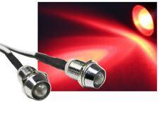 LED Spot Schraube Strahler Edelstahl 12V superhell 12000mcd rot