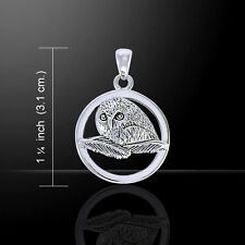 Ted Andrews .925 Sterling Silver Owl Pendant by Peter Stone