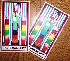 SANTISIMA MUERTE 7 COLOR PRAYER CARD siete colores potencias set/2 cards santa