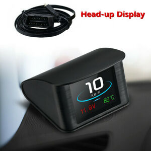 Multi-function LCD Screen HUD Head Up Display OBD2 Speedometer Plug And Play