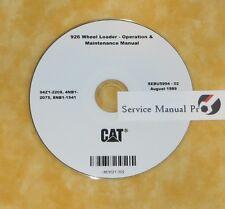 SEBU5994 CAT Caterpillar 926 Wheel Loader Operation Maintenance Manual CD