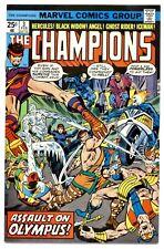 CHAMPIONS Vol.1 #3(2/76)ANGEL/BLACK WIDOW/GHOST RIDER/HERCULES/ICEMAN(CGC IT)9.6