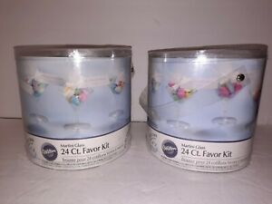 Wilton 24 Ct. Favor Kit Martini Glass Clear Lot Of 2