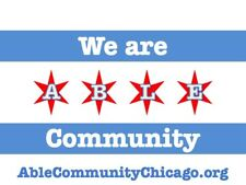 Able Community Chicago flag t-shirts