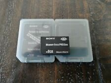 Genuine Sony 8GB Memory Stick PRO Duo Card & PS Brand Cases EXCELLENT CONDITION