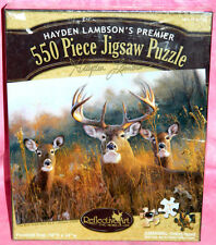 """New Reflective Art 550 Pc Puzzle """"The Buck Stops Here"""" by Hayden Lambson, Deer"""