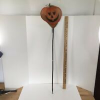 "Vintage Halloween decoration Jack-O-Lantern Pumpkin on a stick - approx 42"" tall"