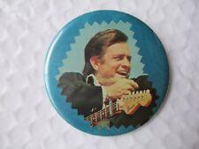 """Johnny Cash Older Pin Back 3"""" Button Fender Guitar"""