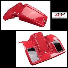 NEW HONDA 83 - 84 ATC 250R RED PLASTIC FRONT AND REAR FENDER SET PLASTICS