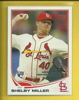 Shelby Miller RC 2013 Topps Update Series Rookie Debut Card Cardinals Rangers