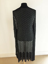 Black/Silver Single Border Geometric Lace Dressmaking Fabric-1.4 metres