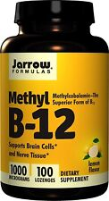 Jarrow Formulas Methyl B-12 Methylcobalamin 1000 mcg 100 Lozenges Formula Lemon
