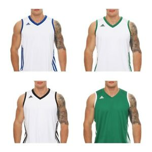 Adidas Tanktop E Kit Jsy Basketball Muskelshirt Fitness Climacool Herren Neu