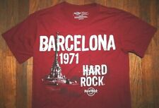 ORIGINAL HARD ROCK CAFE BARCELONA 1971 SPAIN / HRC / BURGUNDY T-SHIRT SIZE M
