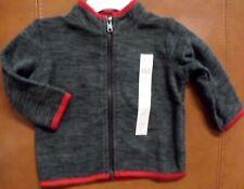 Koala Kids Lightweight Heather Gray Fleece Zip Up Black/Gray/Red 3-6 Months