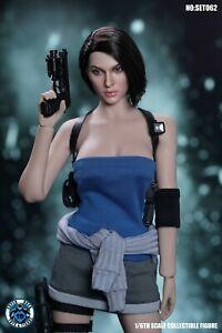 1:6 SUPER DUCK SET062 Jill Valentine SWAT Head Carved & Clothes Face Ver.Model