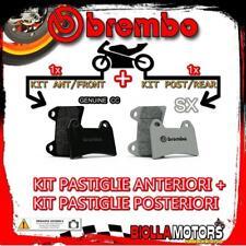 BRPADS-11052 KIT PASTIGLIE FRENO BREMBO CCM RS 2001- 600CC [GENUINE+SX] ANT + PO