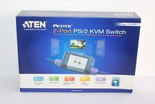 ATEN 2-Port PS/2 VGA/SWITCH KVM CAVO AUDIO (1.2 M) CS62A