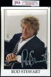 Rod Stewart JSA Coa Signed 5x7 Photo Autograph