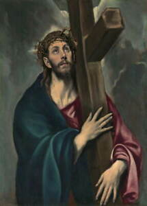 El Greco Christ Carrying the Cross Poster Reproduction Giclee Canvas Print