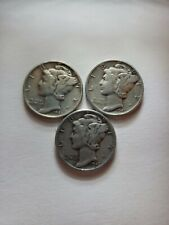 New listing 1945, 1945-D, and 1945-S Mercury Silver Dimes