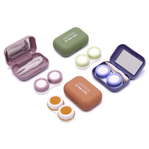 Easy Carry Mini Pocket Contact Lens Case with Mirror Kit Travel Contact Len  SP