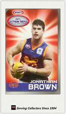 2007 Kraft Dairy AFL Action Heroes Card #3 Jonathan Brown (Brisbane)