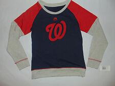 Washington Nationals Nats Girls Sweater Sweatshirt Medium MLB Baseball NEW HOLE