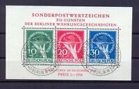 Berlin Block 1 Währungsgeschädigte gestempelt Fotoattest Schlegel (vs324)