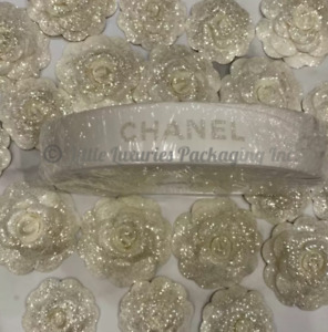 BRAND NEW Authentic Chanel 2020 Holiday Camellia Flowers + Ribbon - 2 Sizes