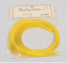 """International Leisure Activities Yellow Quilling Strips - 50 1/8"""" Paper Strips"""