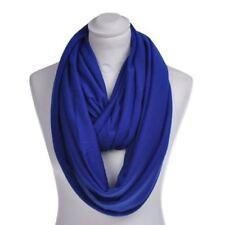 Bufanda de mujer de color principal azul de poliéster