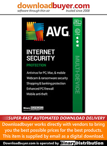 AVG Internet Security 2021 - 10 Devices - 2 Years [Download]