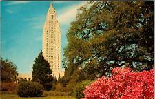 Louisiana State Capitol Bldg Baton Rouge La. Vtg Chrome Postcard
