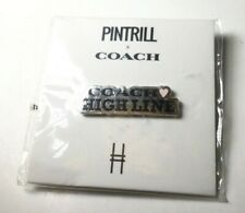 Pintrill Coach Highline Limited Edition Collaboration Tag Logo Pin