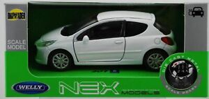 WELLY PEUGEOT 207 WHITE 1:34 DIE CAST METAL MODEL NEW IN BOX