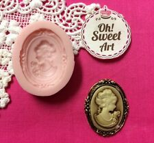 Lady Cameo IV  Silicone Mold Food Safe Cake Decoration Candy Cupcake(FDA)