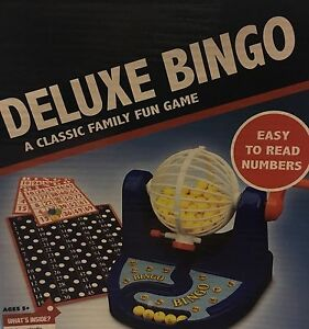 Family Play Deluxe Bingo Set Family Classic Fun Game 6 Items-75Balls,34Cards