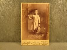 Victorian Antique Cabinet Card Photo of a Young Child, Boy