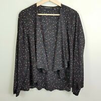 [ COUNTRY ROAD ] Womens Silk Print Light Jacket / Top | Size L or  AU 14 / US 10