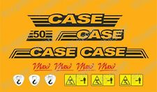 kit ADESIVI STICKERS CASE CX50 Maxi Mini Escavatore Completo