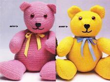 LARGE TEDDY 50cm / knit & crochet  - 8ply or DK - COPY toy pattern