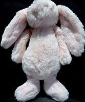"Jellycat Baby Medium Pink Bashful Bunny Rabbit Plush Rattle 12"" Stuffed Animal"