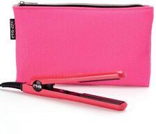 EVA NYC Hot Pink Mini Ceramic Flat Styling Iron & Pouch Brand New Travel Size