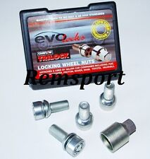 EVO 14x1.5mm Locking Wheel Bolts Radius for VW Audi A3 A4 TT