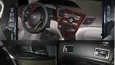 2012 2013 2014 2015 INTERIOR WOOD DASH TRIM KIT SET FOR HONDA CIVIC LX EX EXL Si