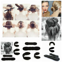 4x Fashion Girl Hair DIY Styling Donut Former Foam French Twist Magic Bun Maker