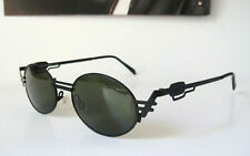 Neostyle 48-18 135 NOS Holiday 945 Black Oval Vintage Sun Glasses Retro Mens Ray