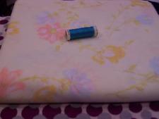 vintage dressmaking fabric- floral sheet - lemon