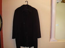 NWOT Men's Jos.A. Bank Black 100% Wool Single Breasted Dress Over Coat-42R